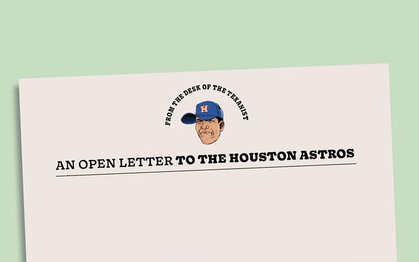 open letter to the houston astros