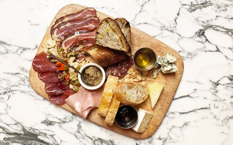 Meat and cheese board at Swedish Hill.