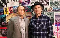 Linklater and Ethen Hawk at exhibit in Paris