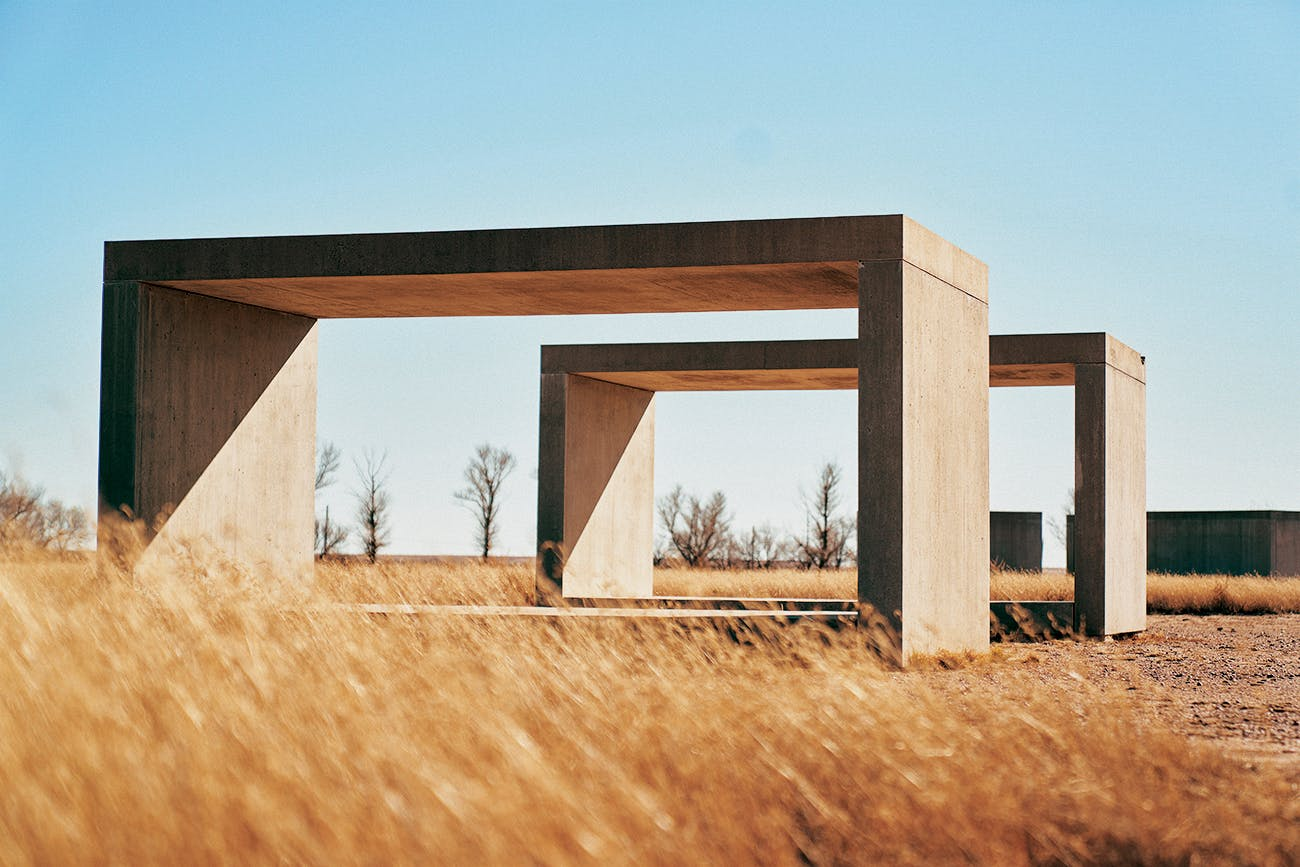 Donald Judd's 15 untitled works in concrete, 1980-1984, at Chinati.