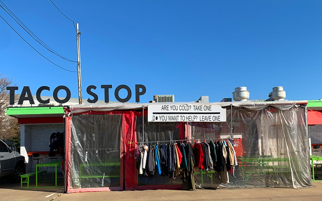 Taco Stop Clothing Rack Wide Shot