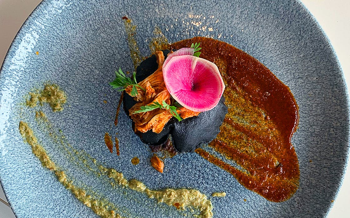 Xochi-Infladita-blue-corn-with-watermelon-radish