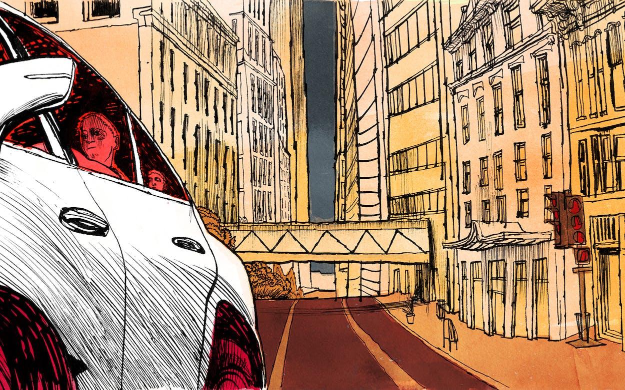 Dallas skyline alto car