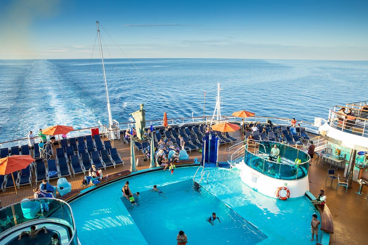 Carnival cruise ship deck pool