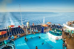 Carnival cruise ship deck pool
