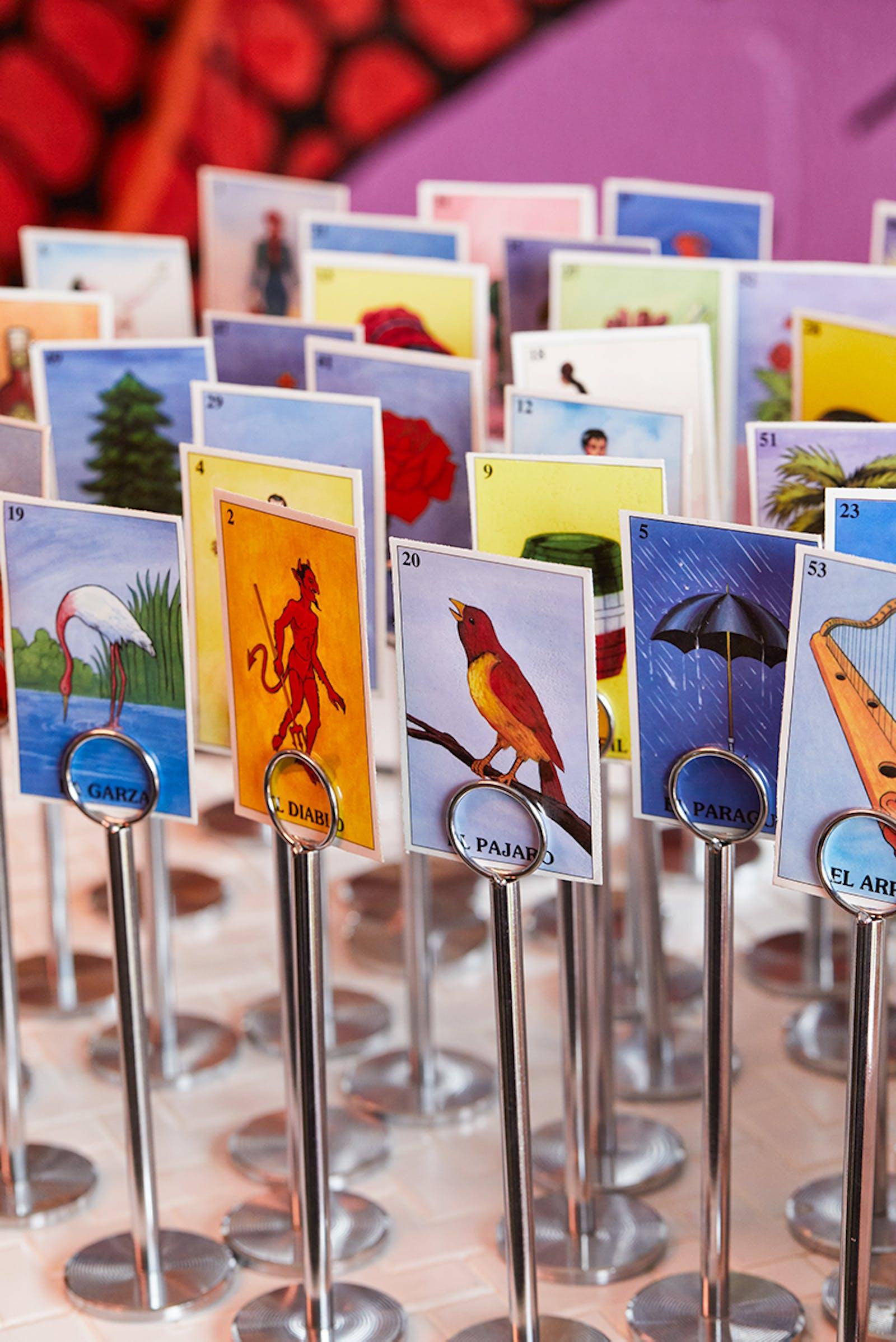 Loteria cards at Nixta taqueria in Austin Texas