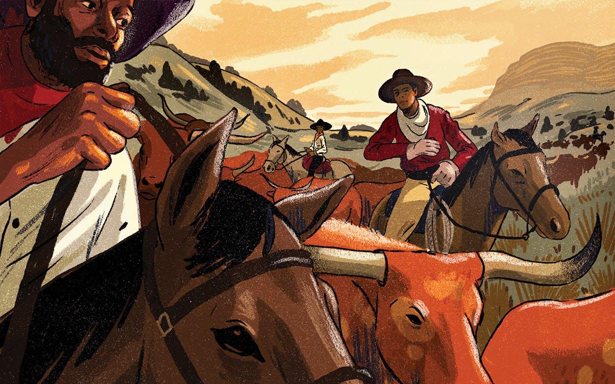black cowboys illustration