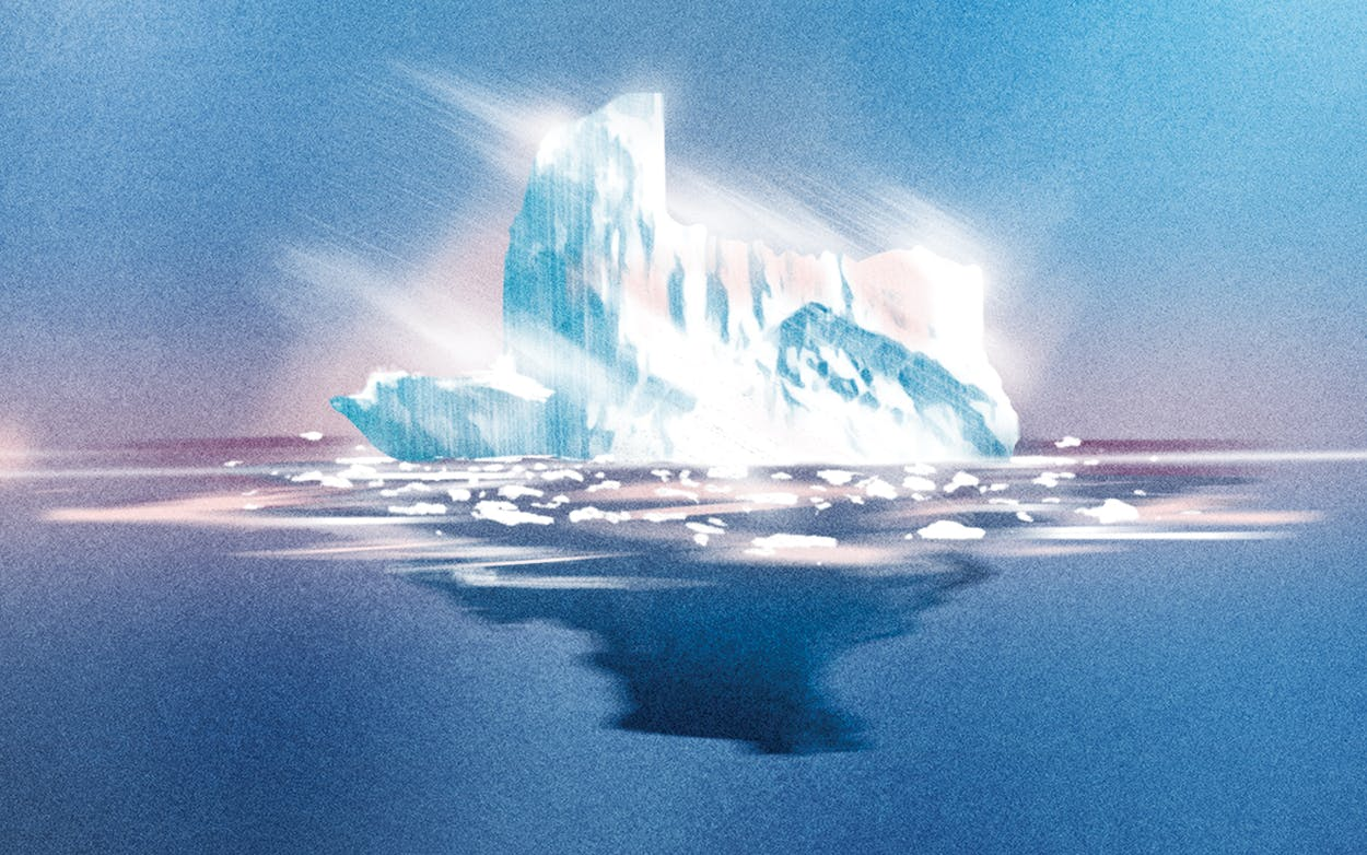 Climate denial thawing texas illustration by Mark Pernice