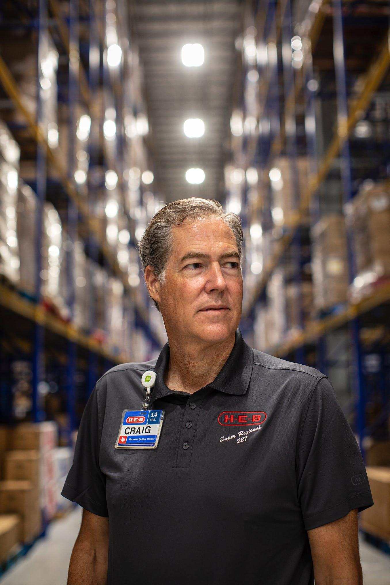 Craig Boyan at HEB Warehouse in San Antonio