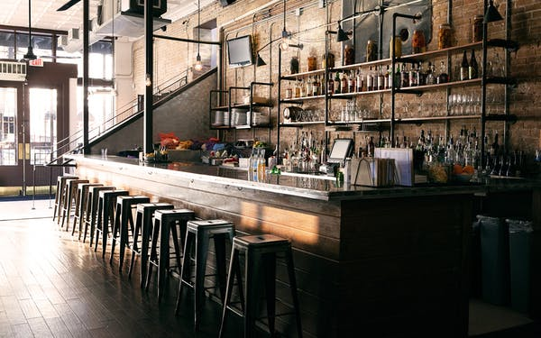 The interior of Parkside, located in downtown Austin.