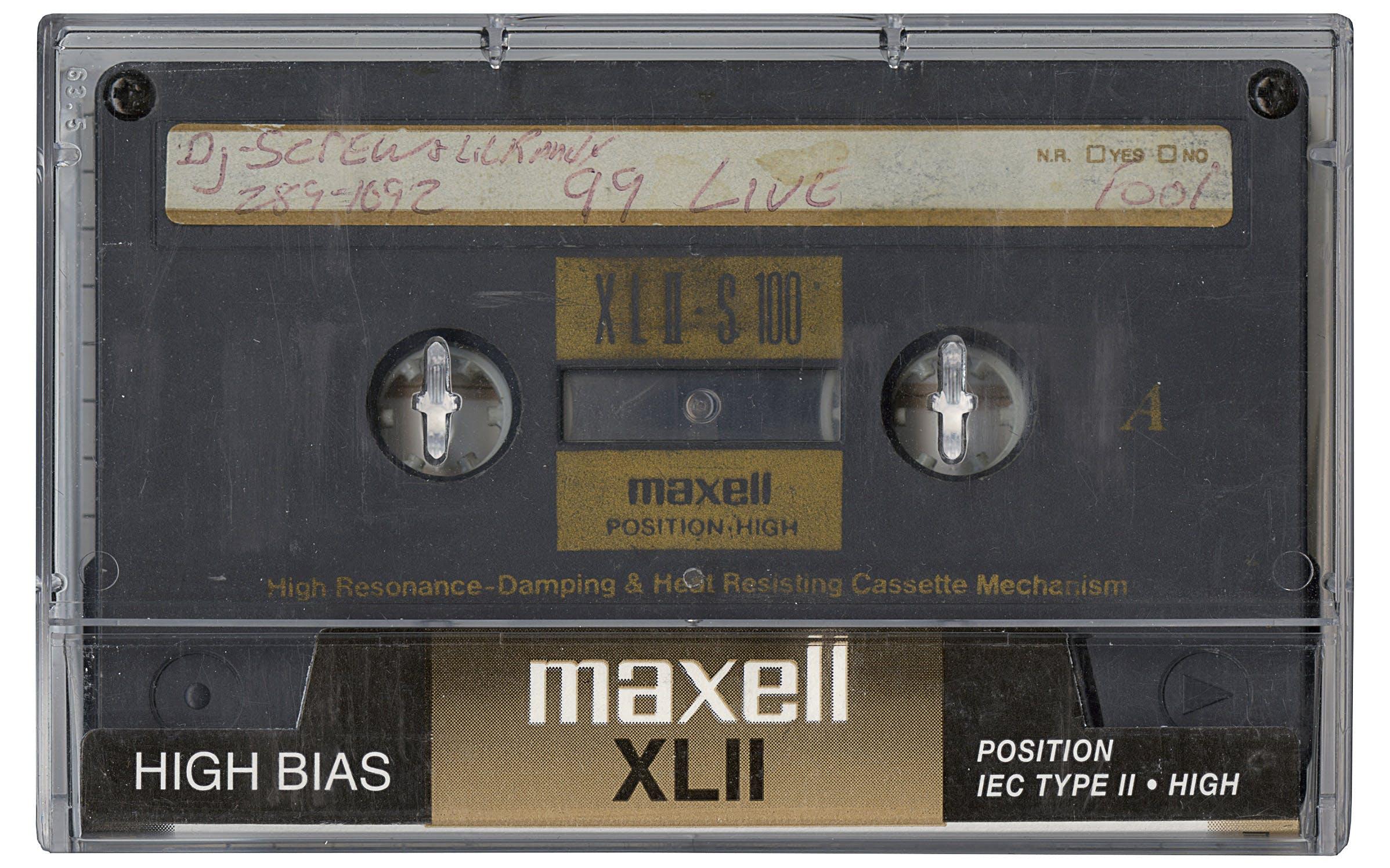 DJ Screw grey tape.