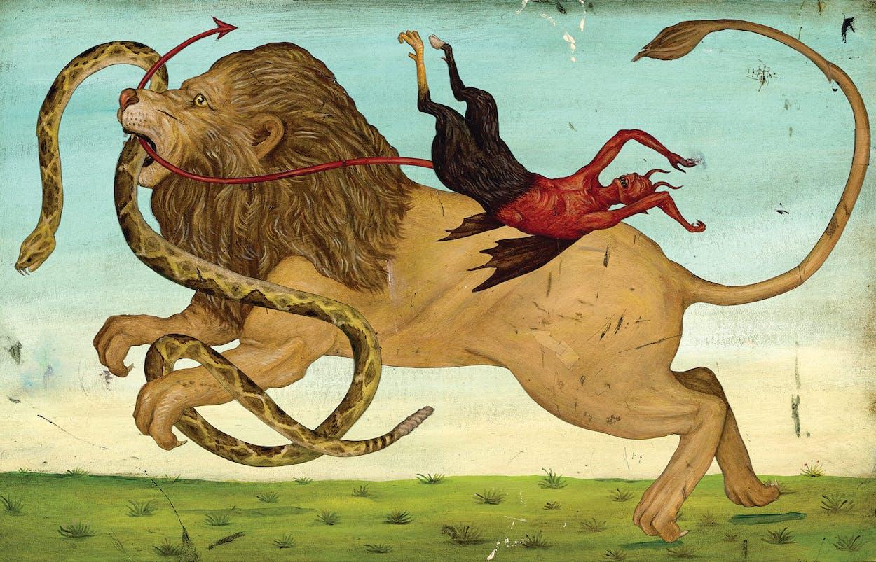lion tamer illustration by Jason Holley