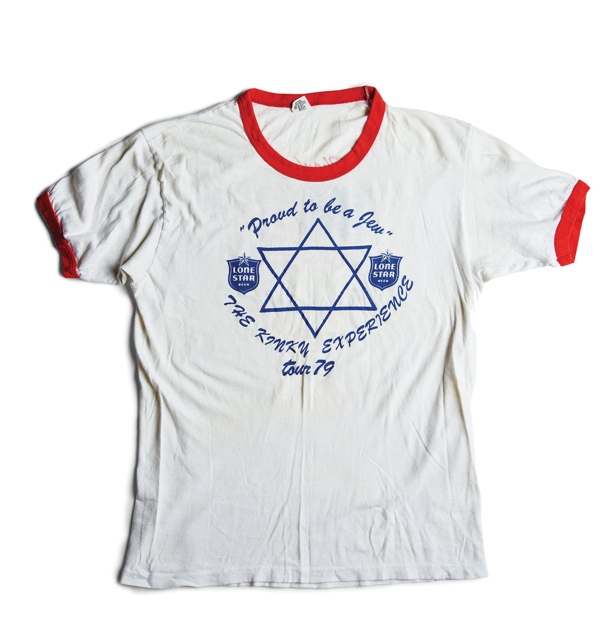 A t-shirt from one of Friedman's tours.