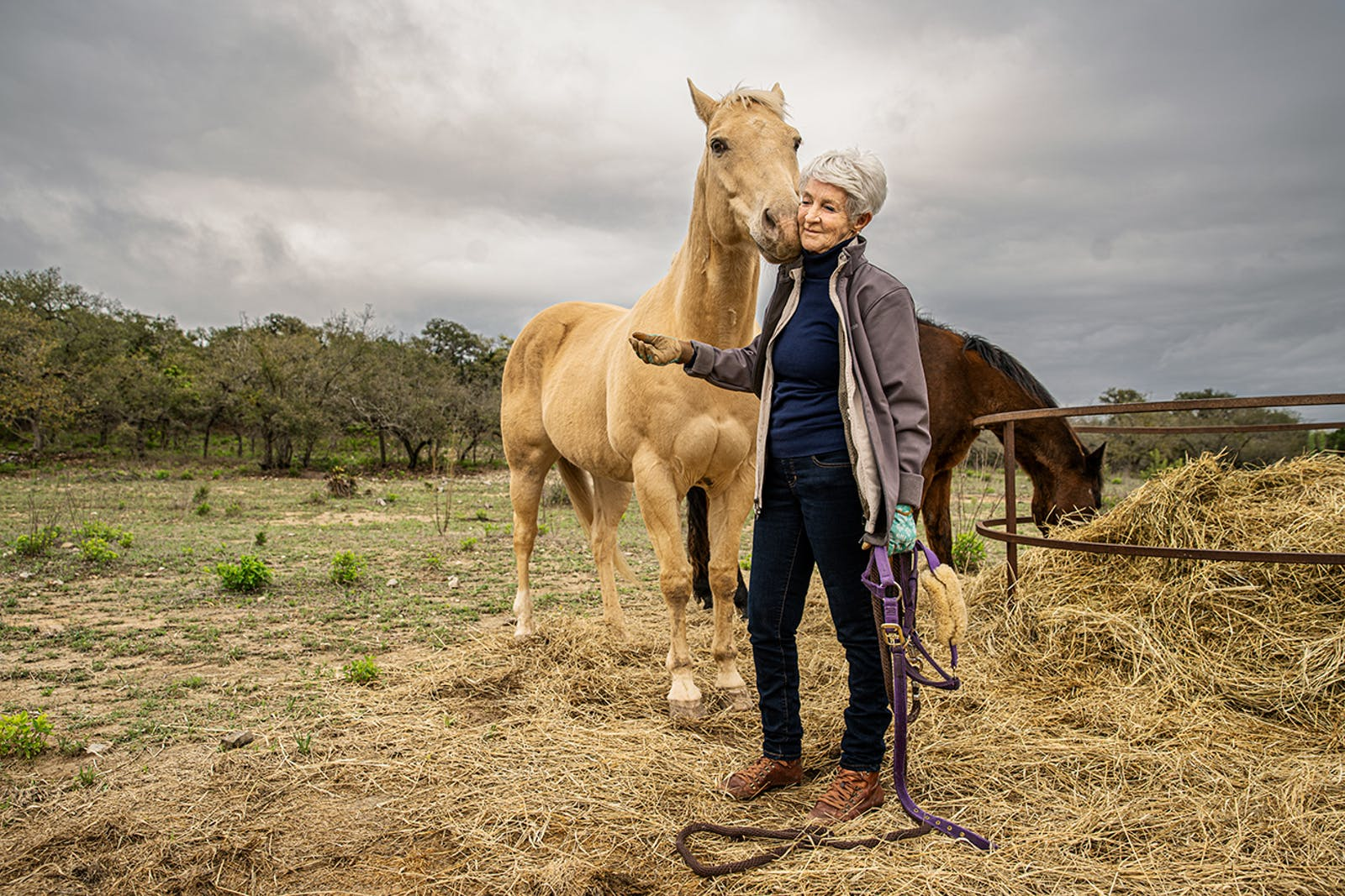 Paulette with horse