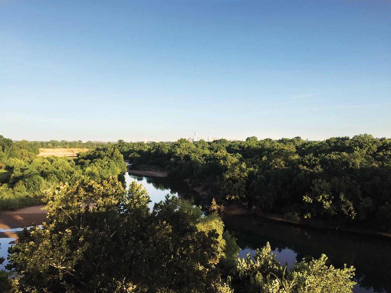 An overview of Roy G. Guerrero Colorado River Metro Park.