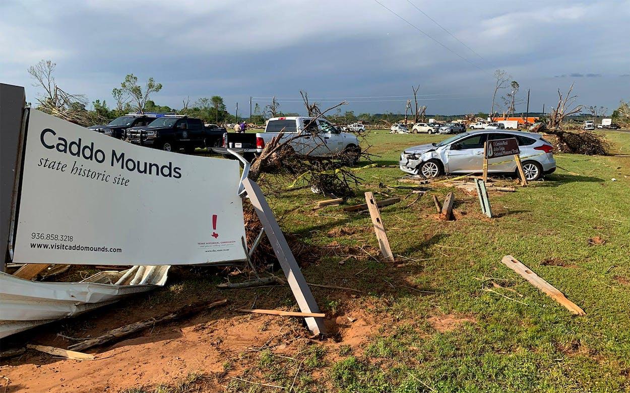 caddo mounds tornado damage