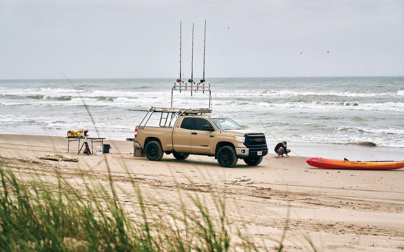 Ozolins's truck-mounted fishing platform
