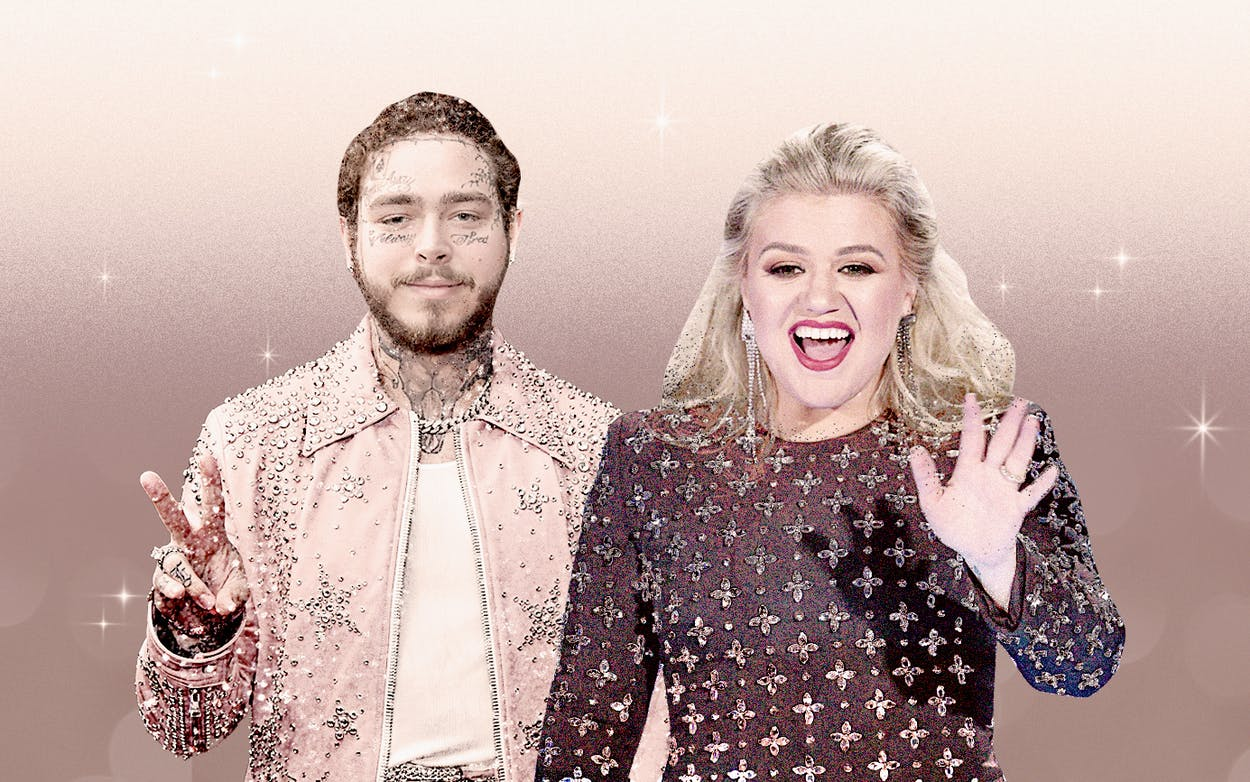 hollywood-tx-clarkson and-post-malone-stay-home