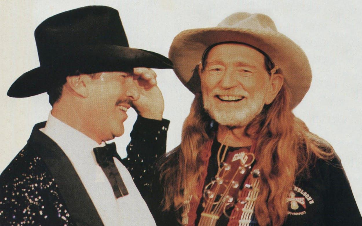 Kinky Friedman and Willie Nelson.