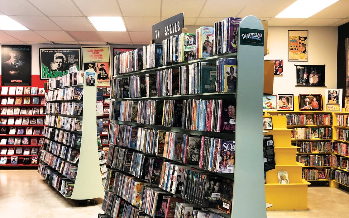 The interior of Vulcan Video at its most recent Russell Drive location in south Austin.