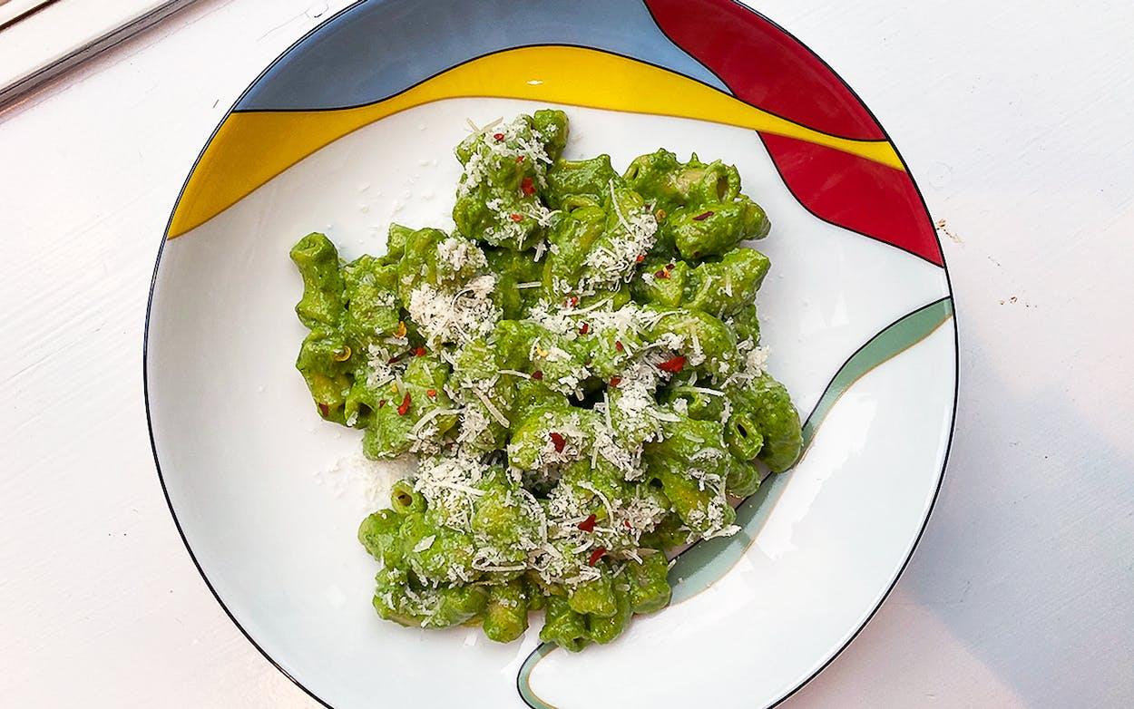 Priya-diary-entry-8-herbs-arugula-pesto-pasta