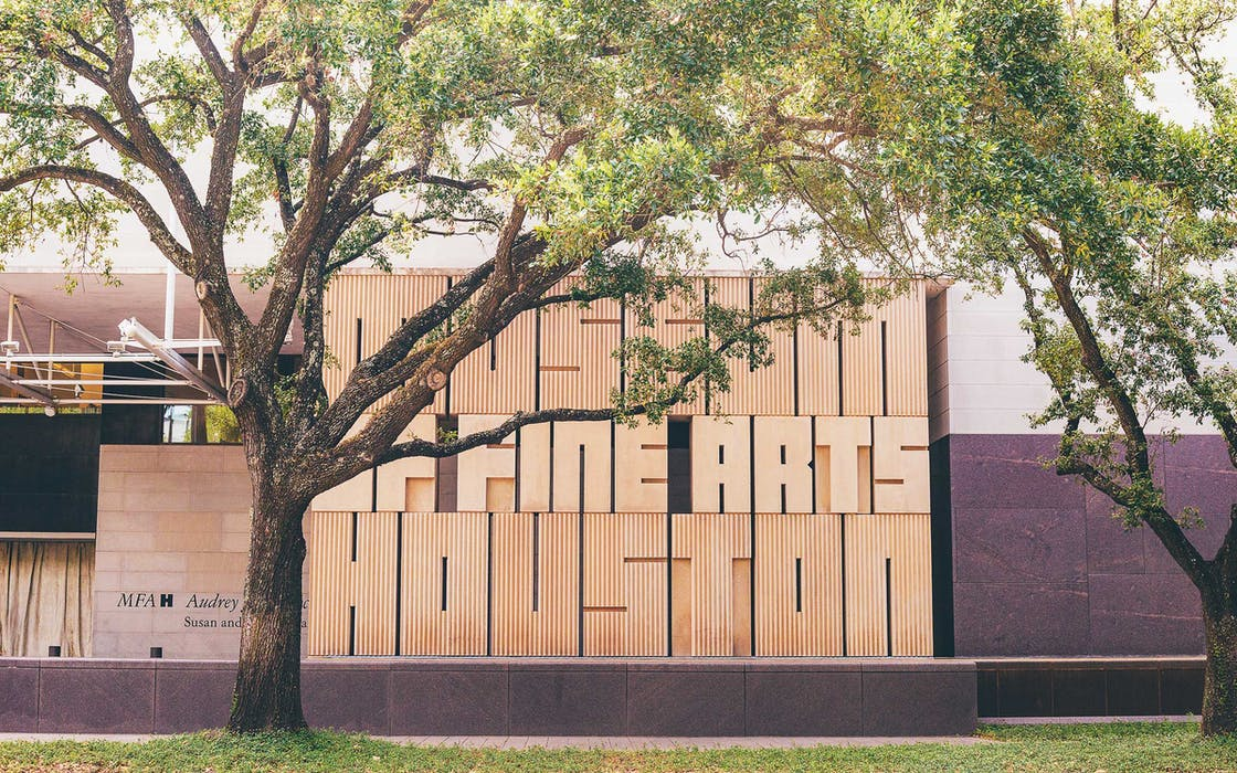 Exterior of Museum of Fine Arts, Houston.