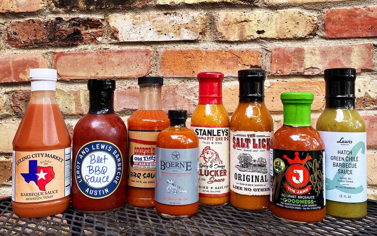 an array of bbq sauces