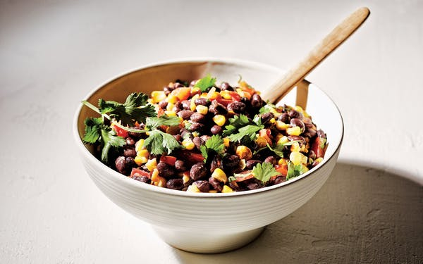 Black Bean and Roasted Corn Salad from Perini Ranch Steakhouse by Lisa and Tom Perini, with Cheryl Alters-Jamison.