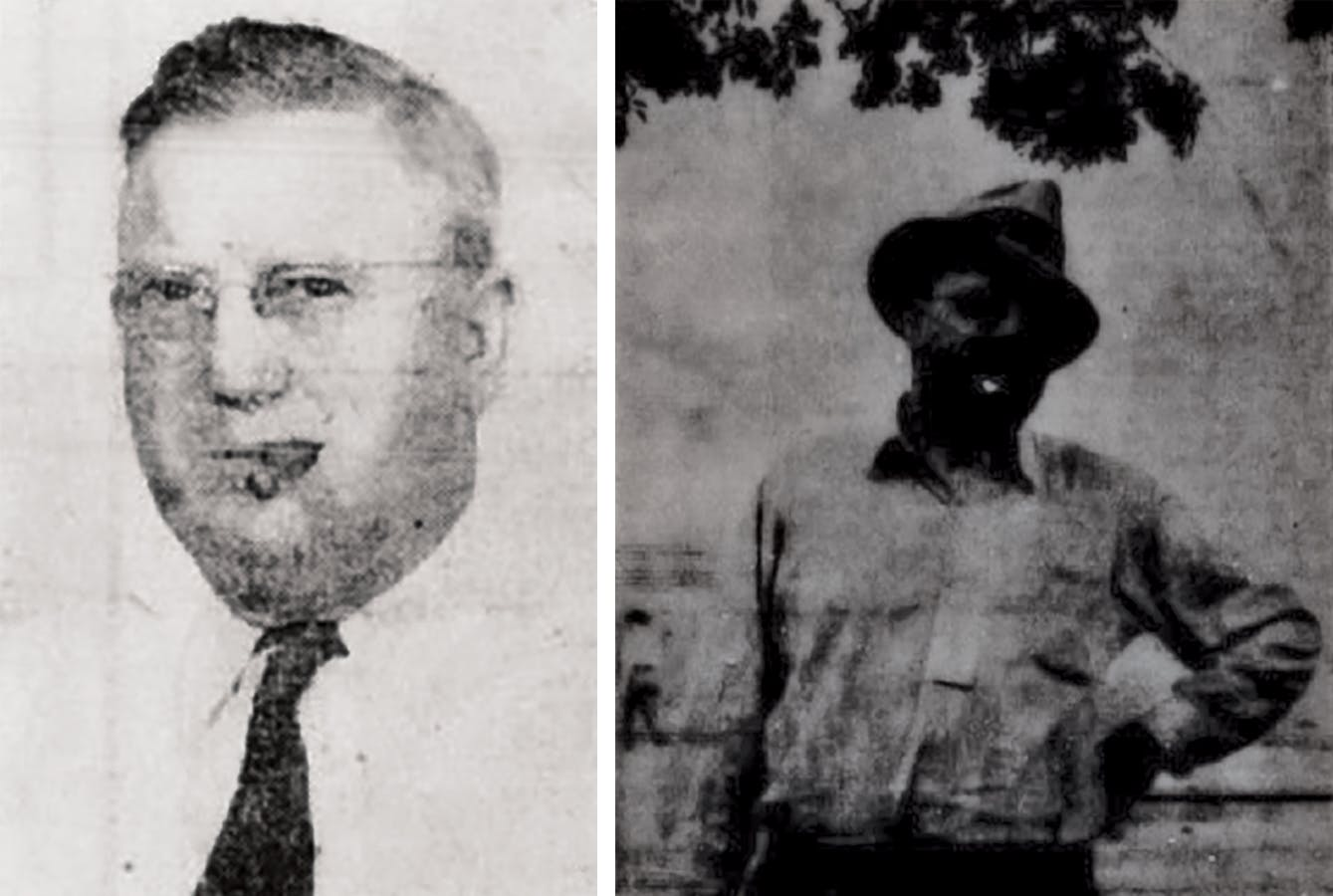 Quay Franklin, circa 1943, and Bob Grimes, circa 1939.
