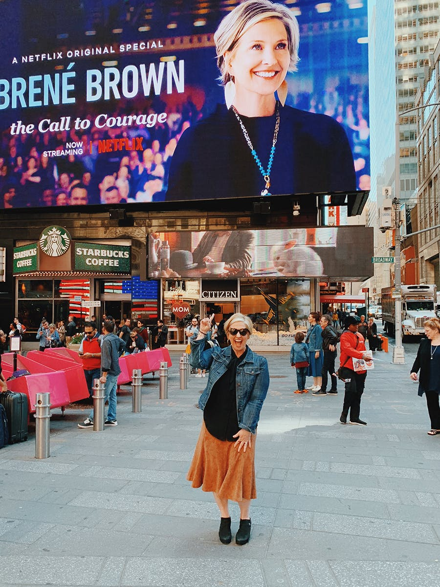 Brené Brown Times Square