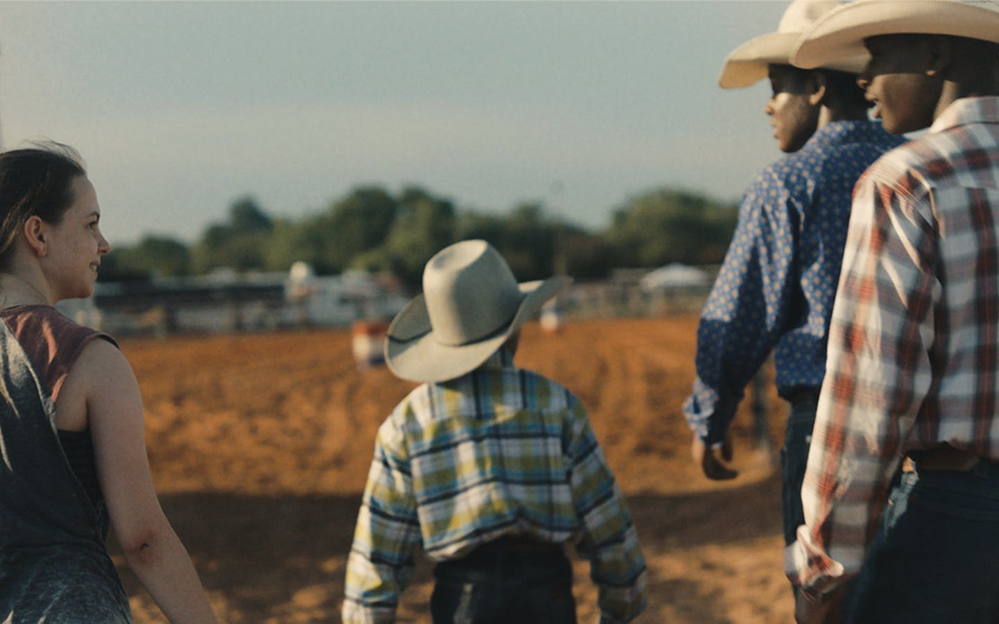 A still from the movie Bull, set in the outskirts of Houston and directed by Annie Silverstein.