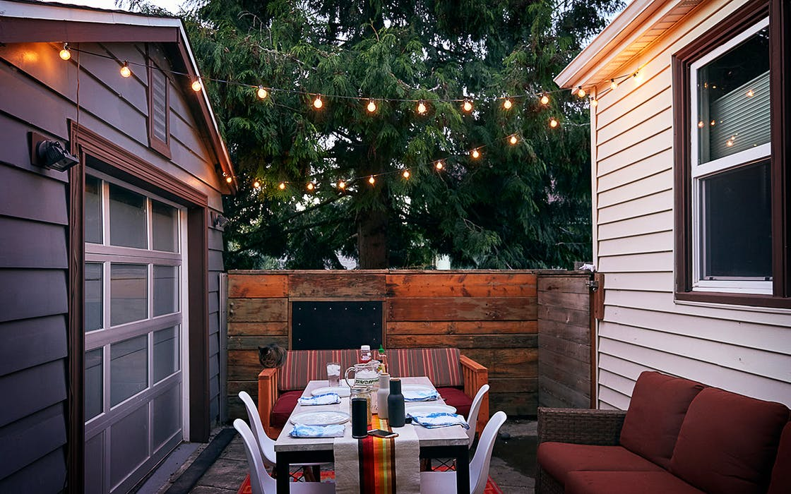 dining in a patio