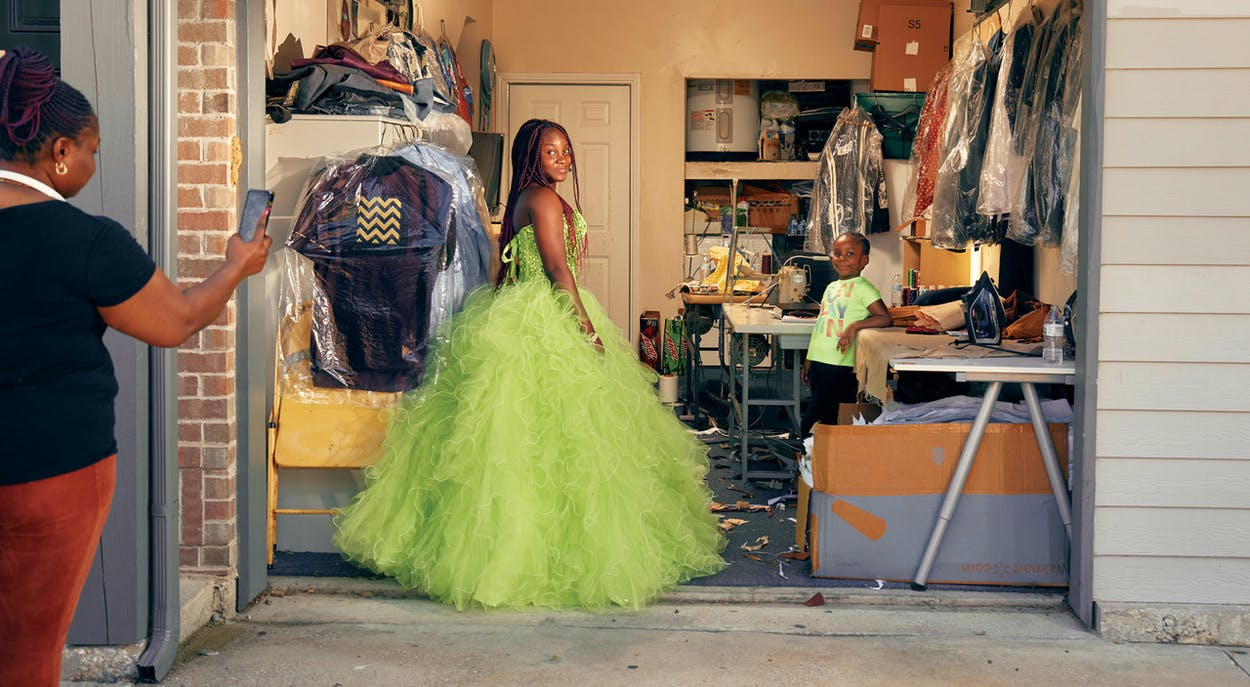 """While shopping for dresses at the Boys & Girls Club Prom Dress Extravaganza, Jummy Loaye, 17, saw her dress and fell in love. """"I just knew that's what I wanted to wear,"""" the Advantage Academy senior says. Though she didn't have too many plans, she just wanted to enjoy a special night with her friends. """"We're all leaving high school and won't see each other as much,"""" she says. She'd been envisioning her own American prom since before moving to Dallas from Nigeria. """"I always knew what prom was, especially because of the movies,"""" she says. """"I wanted to experience it. I've shed tears a couple of times over this."""" In high school, she was chosen to participate in the Leader in Me Program. """"They take students that they believe can lead others and train them,"""" she explains. """"Being chosen for that gave me a reason to be great. It became clearer that the younger ones are watching me; even my little siblings are watching."""" This fall, Loaye plans to attend the University of North Texas and study business. She wants to run her own business one day, like her father, who sells Nigerian clothes. Though all the cancellations of senior events have made her sad, she's trying to draw positive lessons from the experience. """"I have learned that most times our plans don't go through and that even when the plan doesn't go through, it's just a setback,"""" she says. """"We get up and raise our heads to achieve higher than planned."""""""