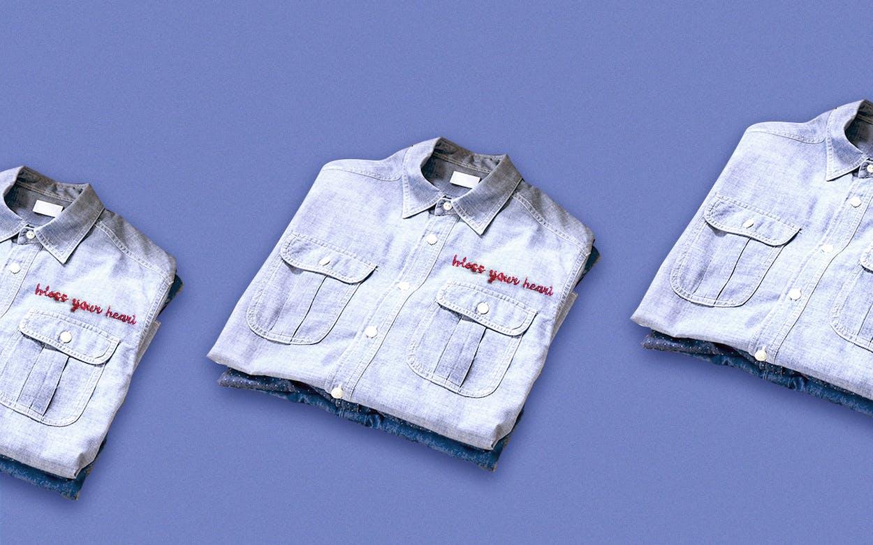 chambray shirt diy