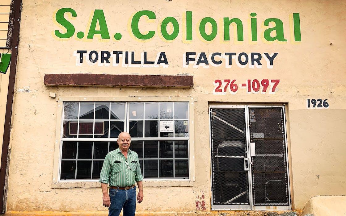 Raymundo Escamilla outside of his tortilla factory