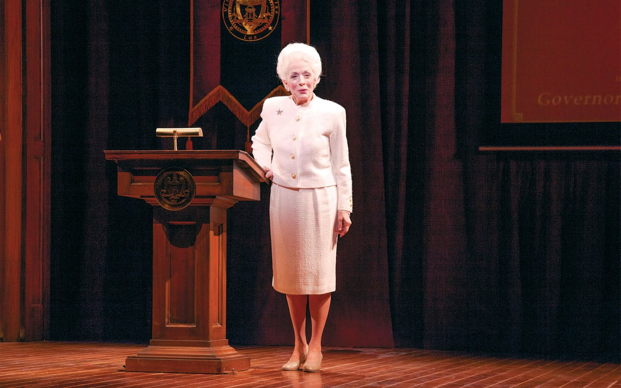 Emmy Award–winning actress Holland Taylor stars in Ann on Broadway at Lincoln Center's Vivian Beaumont Theater in New York City on February 15, 2013.