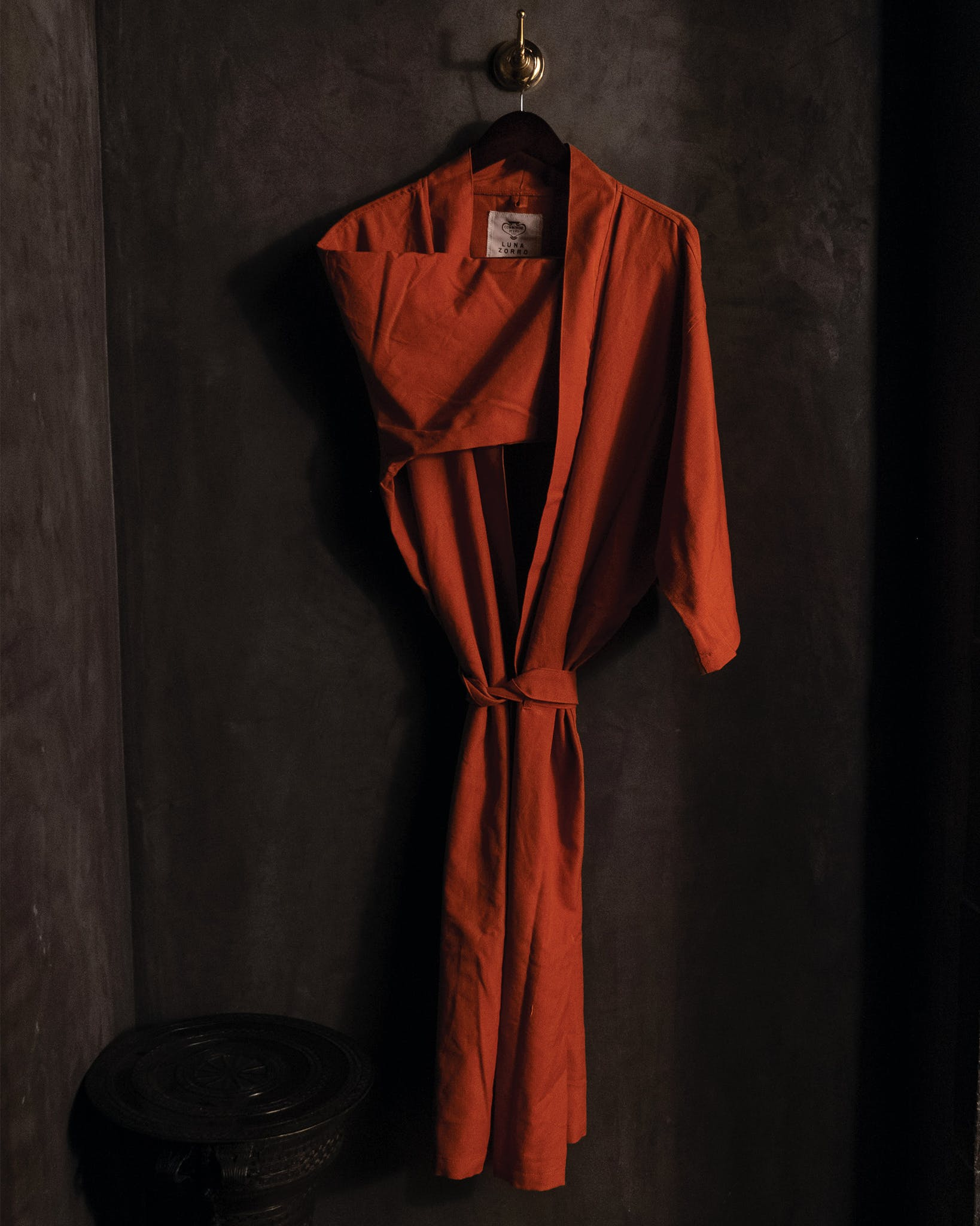 The hotel's signature linen robes were made by Luna Zorro, the Guatemalan collective of weavers that created the hotel's handmade rugs.