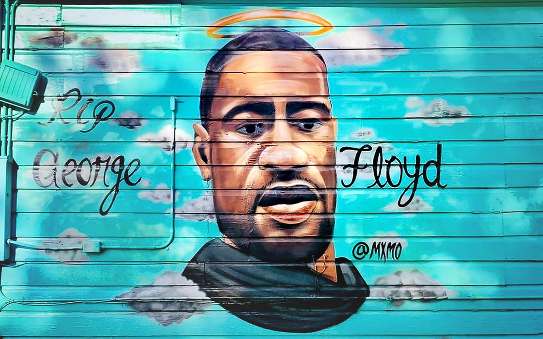 george floyd mural big poppas tacos san antonio, texas
