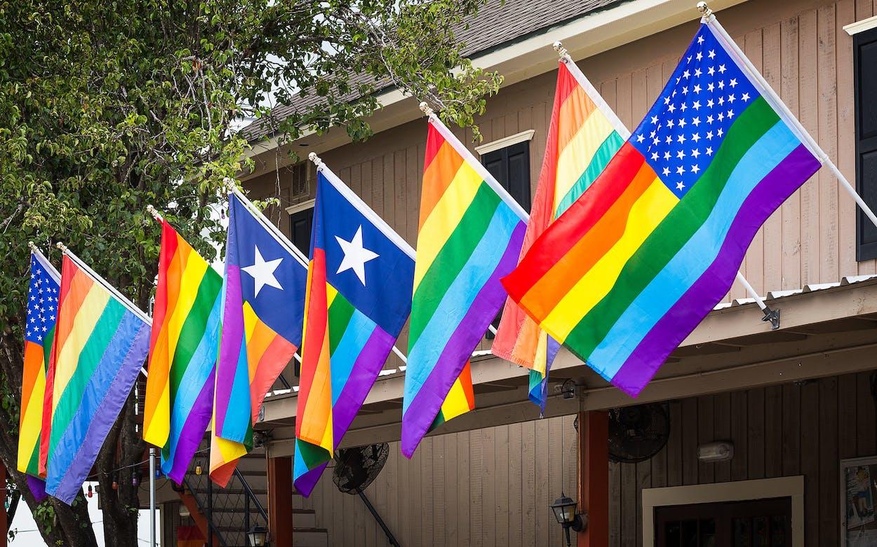 Gay pride flags in Houston.