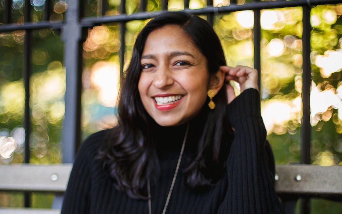 Priya Krishna in Brooklyn, where she returned earlier this month.