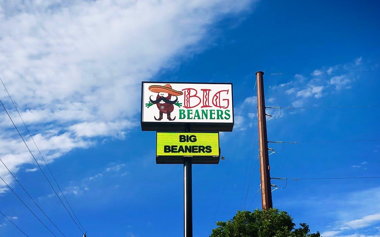 Restaurant sign that reads