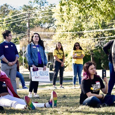 san marcos cite and release protestors