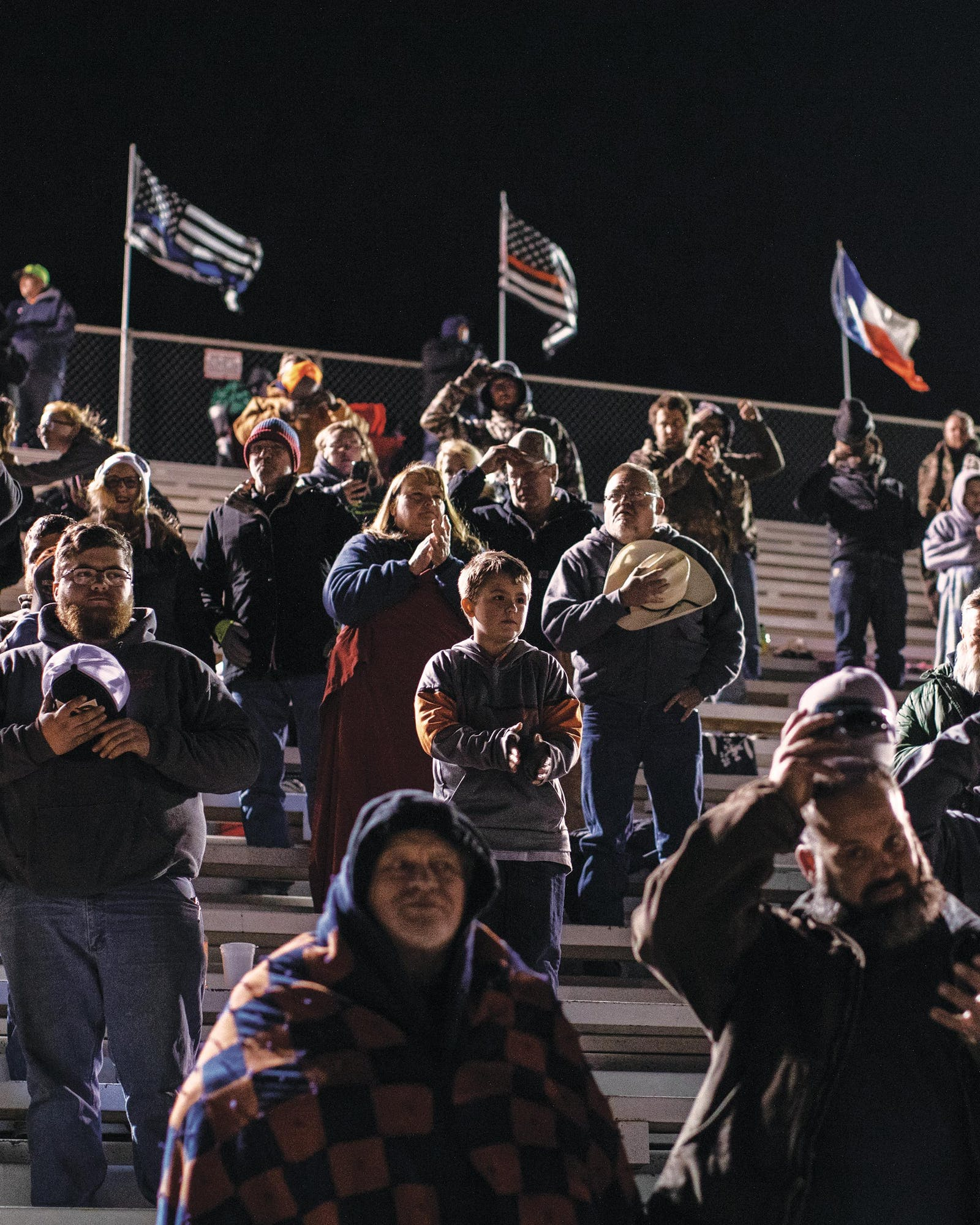 fans at a stock car race in Wichita Falls