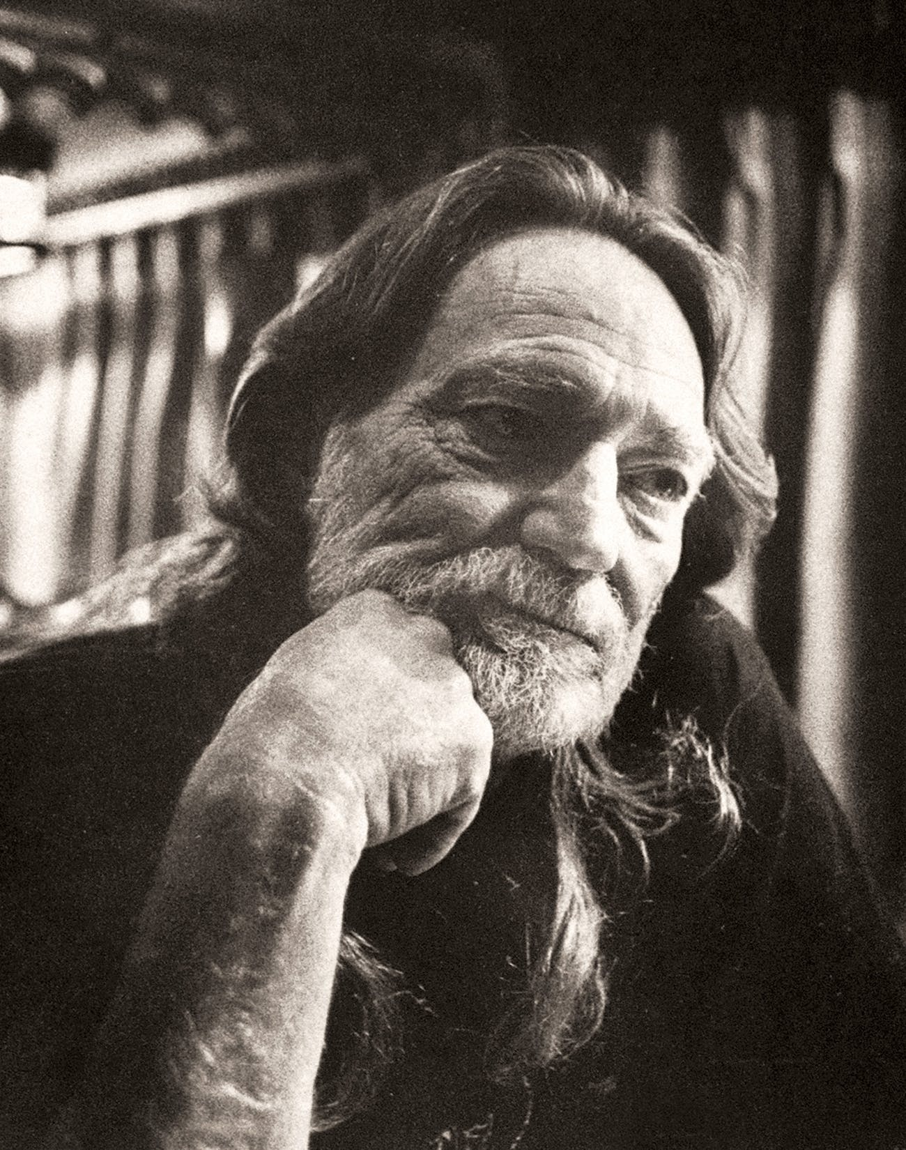 Willie Nelson in his motor coach on February 5, 1991, listening to the IRS Tapes after his property was seized by the agency.