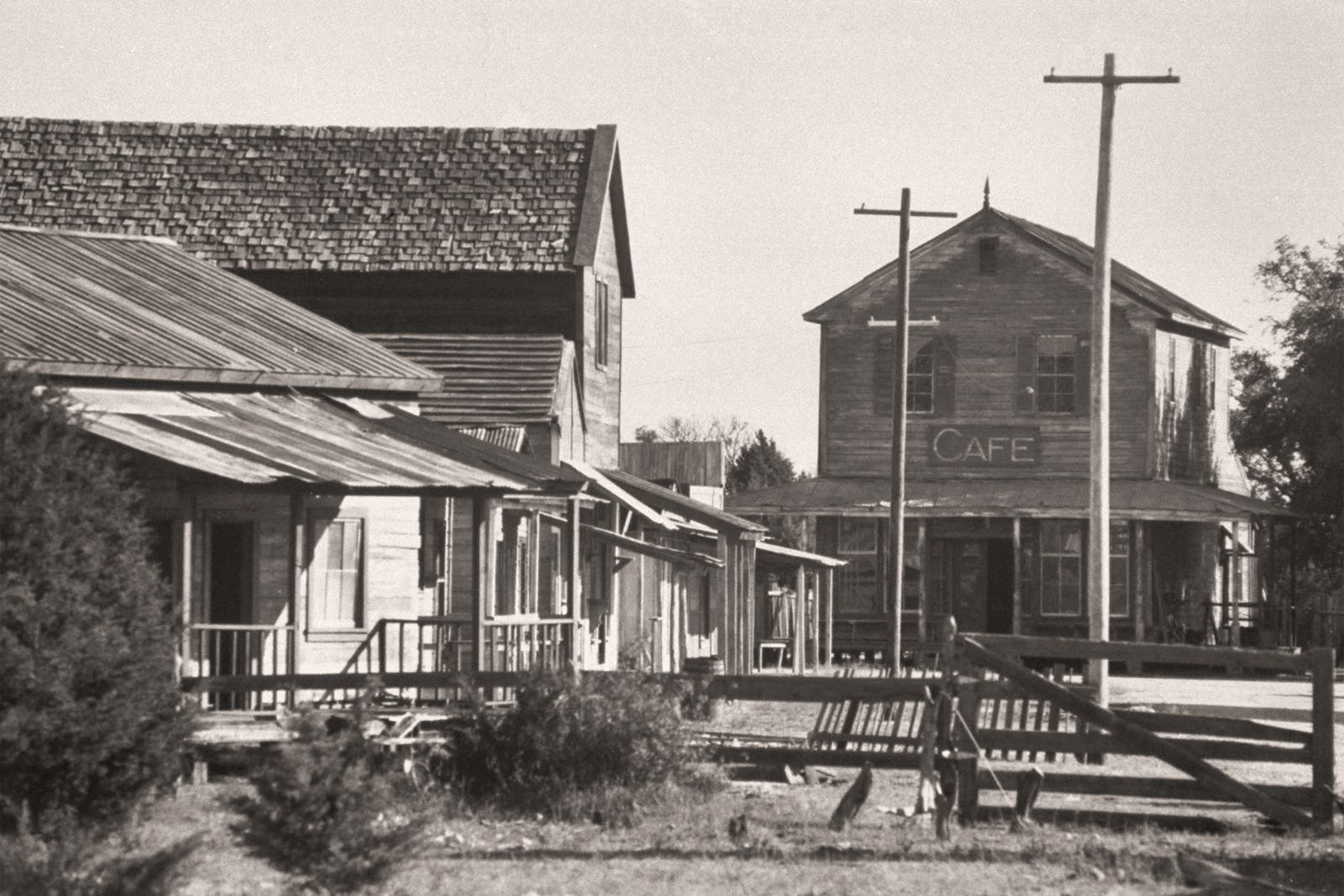 Luck, the western town movie set on Willie's property, which was seized by the IRS and put up for sale.