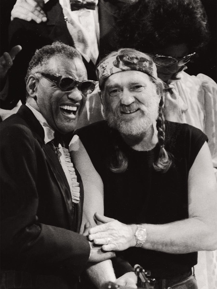 Ray Charles and Willie Nelson