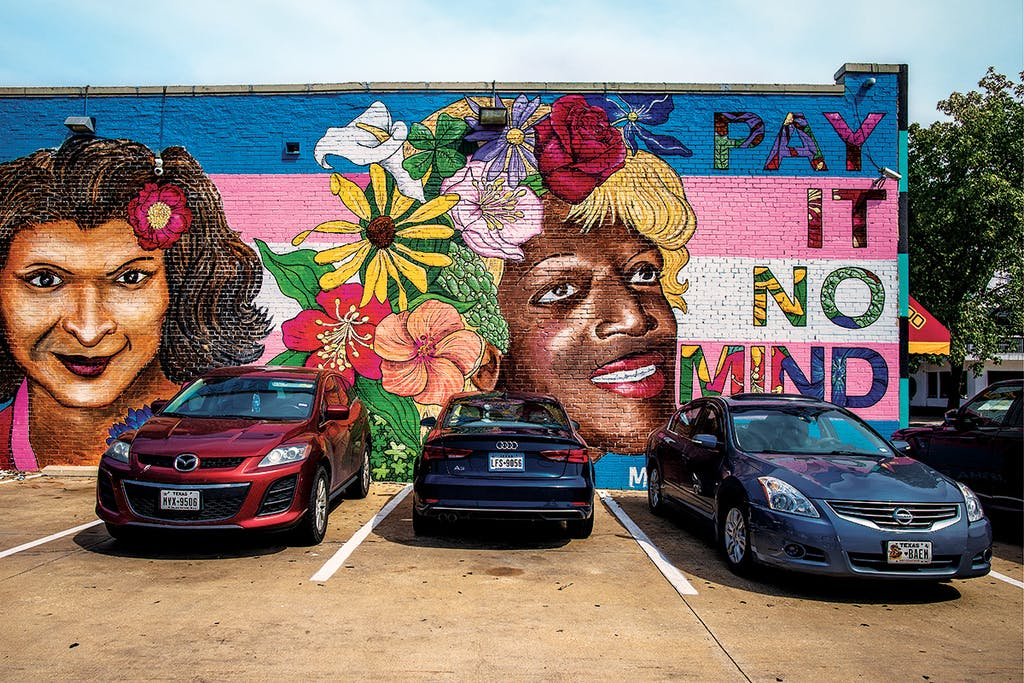 dallas oak lawn transgender mural