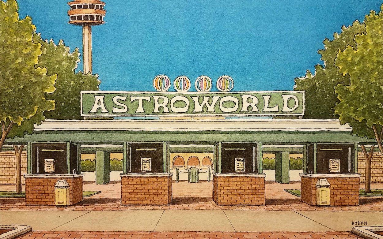artist-jim-koehn-astroworld-houston-texas-watercolor