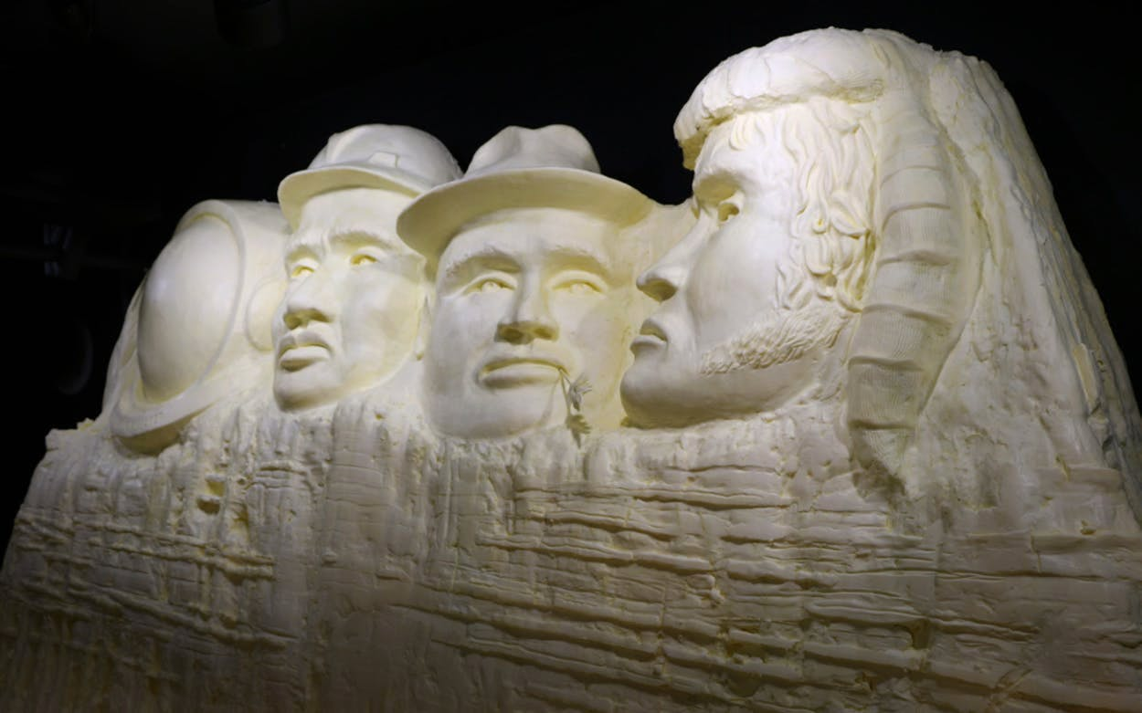butter sculpture at the state fair of texas
