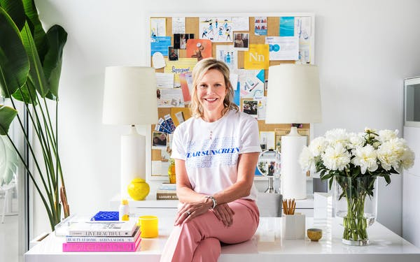 Holly Thaggard at Supergoop's office in San Antonio on June 22, 2020.